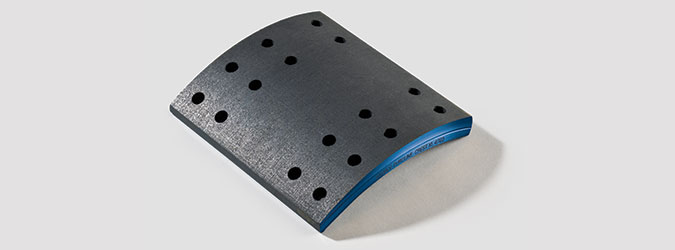 Crest XL brake lining for trucks